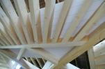 Plafond en étoile, poutres apparentes, plafond rustique, rénovation, lames peintes d'usine, lamellé-collé, Woodline Menuiserie Anthony Hablot
