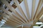Plafond en étoile, poutres apparentes, plafond rustique, rénovation, lamellé-collé, Woodline Menuiserie Anthony Hablot
